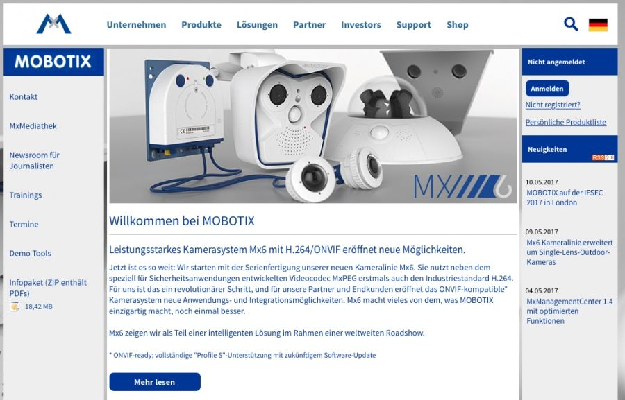 "ReCon ist Mobotix zertifzierter Partner für ""Intelligent IP Video Solutions"""